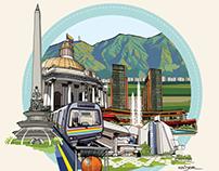 Venezuela Ilustrada por: Heider Blanco R.