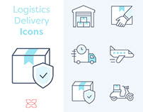 Free* 10 Logistics Delivery Icons