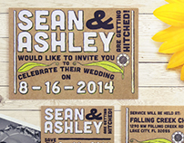 Sean & Ashley Conner Wedding Stationary