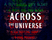 Pôster Tipográfico: Across The Universe