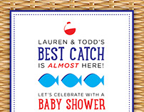 Best Catch: Fishing Themed Baby Shower Invitation