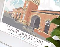 Digital Illustration: Darlington Poster