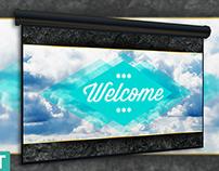 Free Sky Church Slide Template