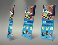 Print Shop Signage Rollup Banner Template