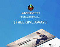 Startuprr - OnePage PSD [FREE GIVE AWAY]