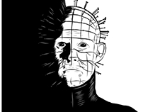 Hellraiser B&W illustration