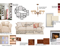 Moodboards for a family room renovation and redecoratio
