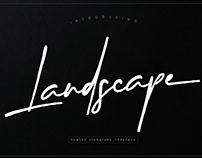 Landscape Signature font
