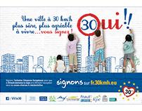 Campagne : Ville à 30, ville à vivre