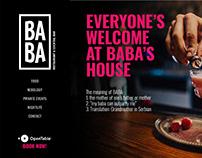 Baba Restaurant & Cocktail Bar website redesign