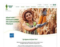 Géant Vert - Landing page - vegetable