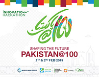 Pakistan@100 Innovation Hackathon Branding & Posters