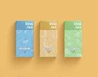 Bliss Tea Packaging & Illustration Graphic Design