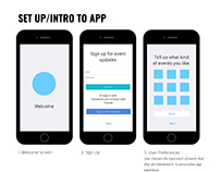 What's On in Cape Town | Wireframe for Mobile App