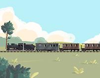 Narrow-gauge Railway Museum Stand