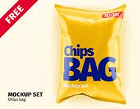 FREE. Chips Bag Mockup Set (glossy/matt)