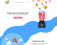 Make Your Smoothie Online Website concept