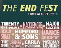 The End Fest · Creación de marca / Sistema de piezas