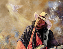 Homage to Stevie Ray Vaughan Illustration