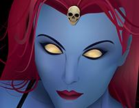 X-Men Selfies - Mystique / Raven Darkholme Illustration