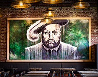 King Henry VIII Mural for Wicked Weed Brewing