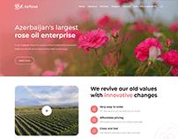 AzRose - Website concept