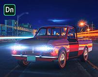 Mini Pickup Truck - Adobe Dimension