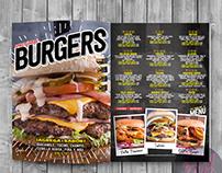 Diseño de Menú Spike's Burgers & Alitas