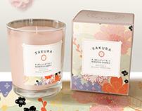 Sakura - Kimono & cherry blossom pattern & packaging