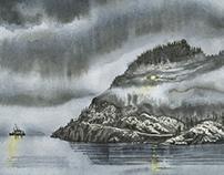 Landscapes of Ålvik, Norway.