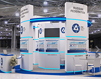 Exhibition stand of Rosatom in Orlando, FL