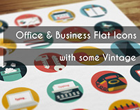 Office & Business Icons with some Vintage