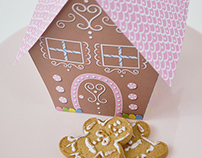 Gingerbread house Package design