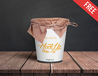 Vintage Cup – Free PSD Mockup