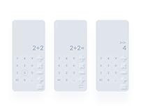 Daily UI Calculator Challenge. DailyUI 004. Neumorphism
