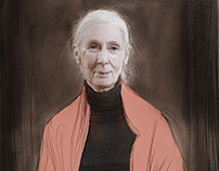 Sketch of Jane Goodall