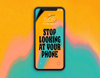 Stop Looking At Your Phone (Lock Screen Wallpaper)