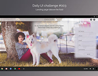 Daily UI challenge #003 - landing page (above the fold)