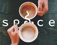 Space restaurant and cafe | Logo design