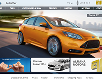 Almana Motors Website planning