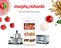 Morphy Richards Food App Concept