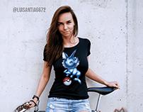 T-shirt design: Vaporeon