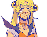 Battle Damage Sailor Moon