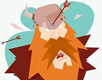 Ilustração Viking.