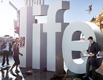 Asteron life insurance 'larger than life' print
