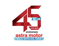 Logo 45 Tahun Astra Motor