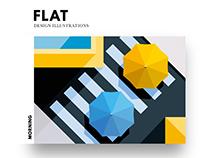 Flat Design Illustrations