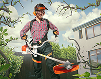 STIHL - advertising visuals