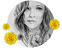 "Illustration, portrait ""Dandelion"""