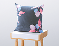 3d Square Pillow Mock-up
